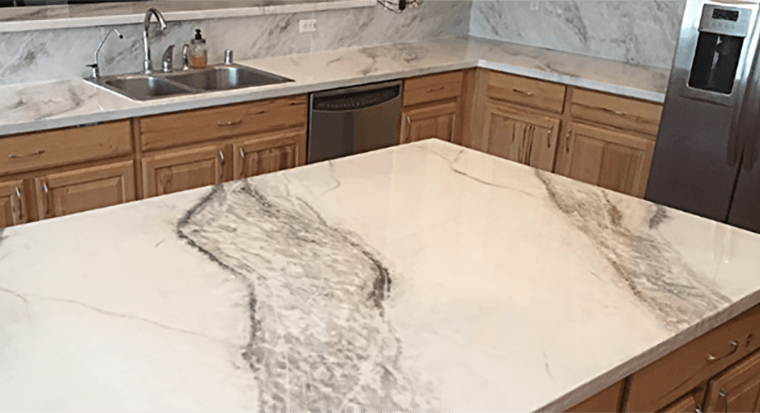 cleaning concrete countertop